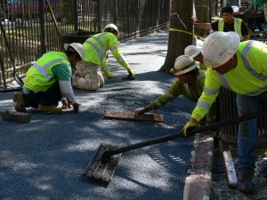 Large Pic Installing Flexi-Pave